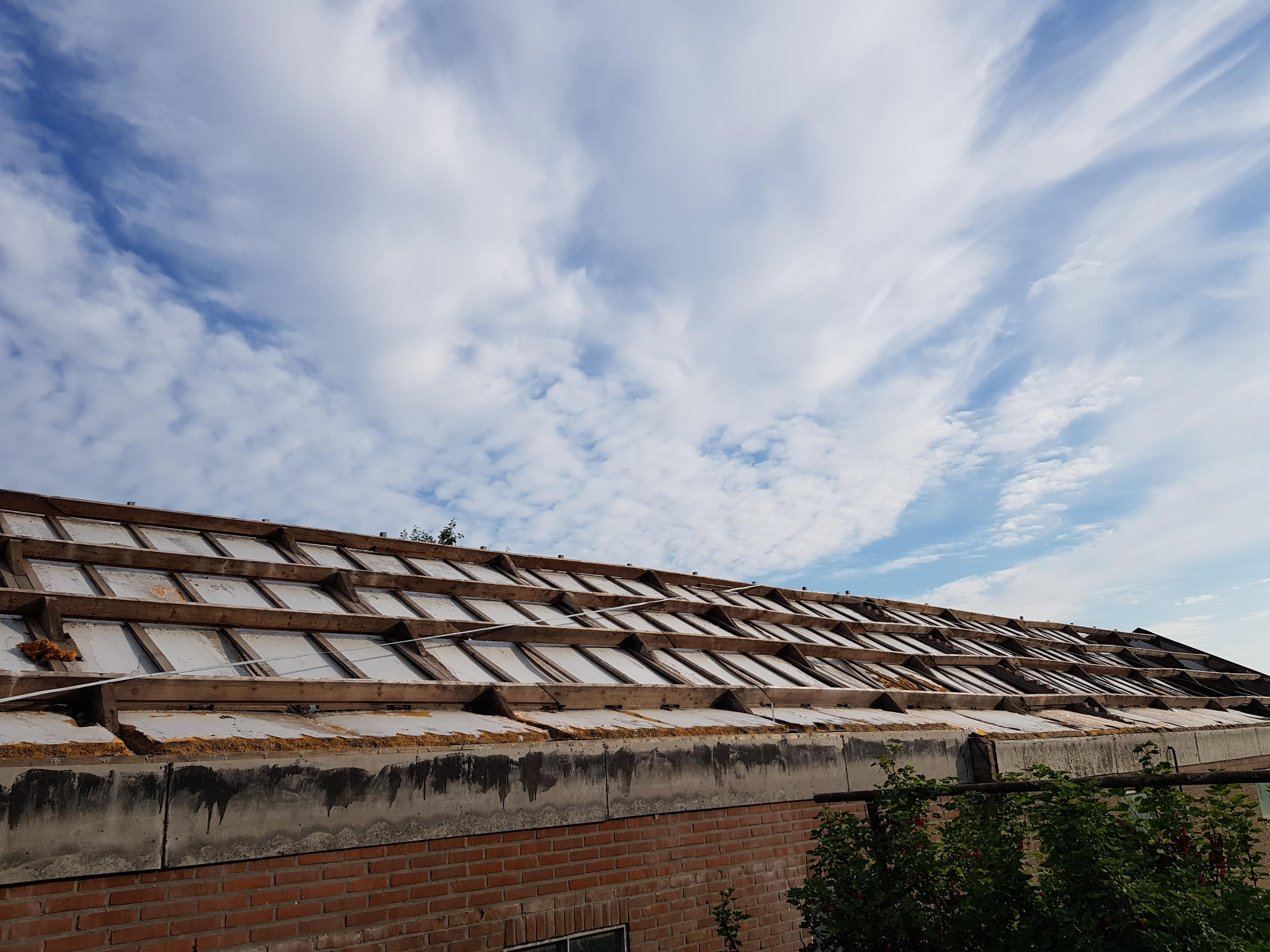 Verwijderen dakbedekking